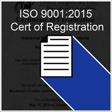 Quality ISO 9001:2015 Rubber Manufacturing